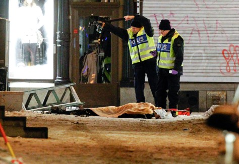 Image: Scene of blast in Sweden