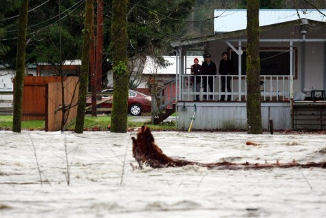 Image: River rises in Granite Falls, Wa.