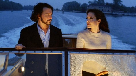 "Image: Johnny Depp and Angelina Jolie in ""The Tourist"""