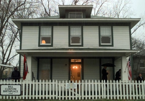 Image: Clinton childhood home