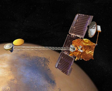Image: Artist's rendition of Mars Odyssey