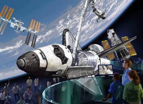 Image: Artist's rendition, Kennedy Space Center shuttle exhibit
