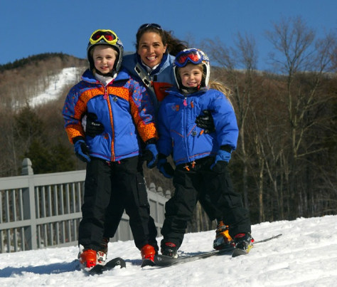 Image: Mom and kids at Smugglers' Notch Resort