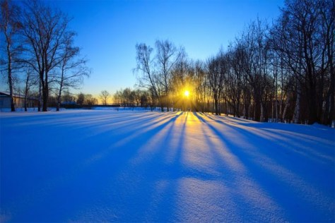 Image: Photo on day of winter solstice