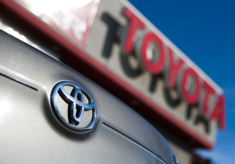 Image: A Toyota vehicle is seen in a dealership lot in the Bay Ridge neighborhood of the Brooklyn borough of New York City