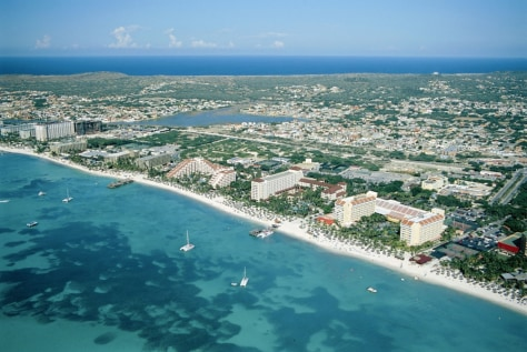 Image: Aruba's Palm Beach.