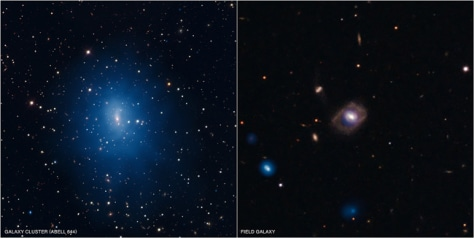 Image: Composite images of galaxies