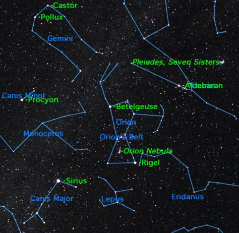 Image: Map of constellation Orion