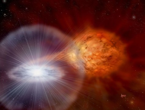 Image: Artist's impression of recurrent nova RS Ophiuchi