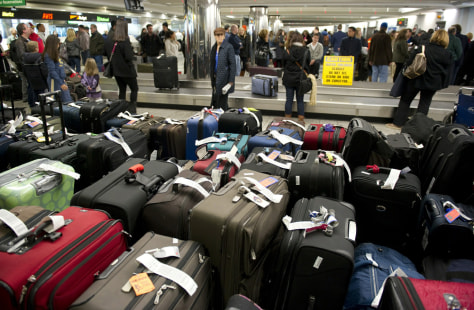 Image: Unclaimed bags at LaGuardia Airport