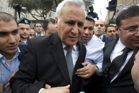 Image: Former Israeli president Moshe Katsav