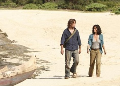"Image: Sheila Kelley and Josh Holloway on ""Lost"""