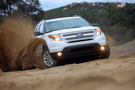 Image: The 2011 Explorer on the all-media drive in San Diego, Californi