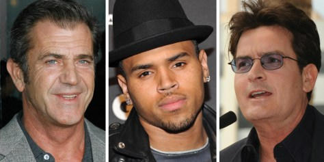 Image: Mel Gibson, Chris Brown, Charlie Sheen
