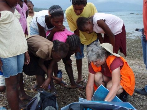 Image: USGS geologist Carol Prentice in Haiti
