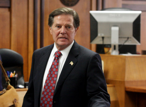 Image: Tom DeLay awaits sentencing at a courthouse in Austin, Texas