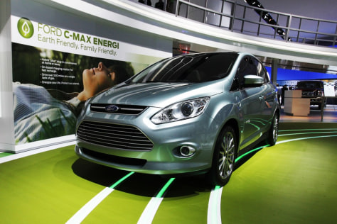 Image: A Ford C-max Energi hybrid car