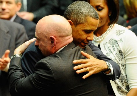 Image: President Obama, astronaut Mark Kelly