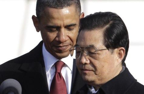 Image: Barack Obama, Hu Jintao
