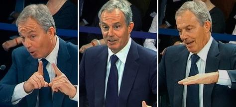Image: Former British Prime Minister Tony Blair testifies