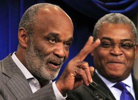 Image: Haitian President Rene Preval, Jean-Max Bellerive