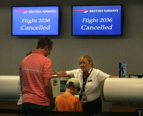 Image: British Airways ticket agent