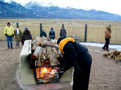 Image: Belinda Ellis' funeral pyre