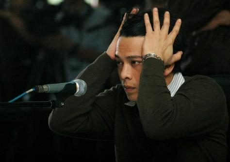 Image: Indonesian rock star Nazril Ariel in court