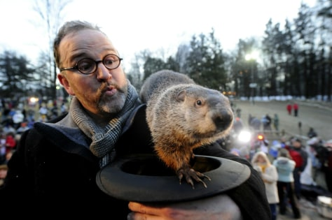 Image: Crowds Gathering On Groundhog's Day For Punxsutawney Phil Tradition