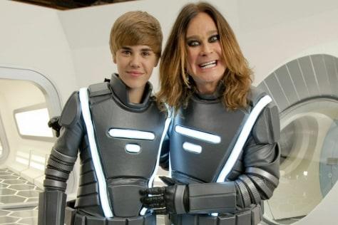 Image: Justin Bieber and Ozzy Osbourne