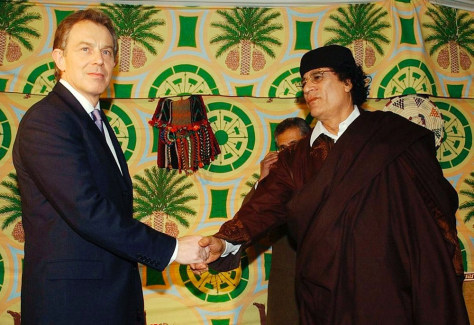 Image: Blair and Gadhafi