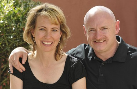 Image: U.S. Representative Gabrielle Giffords is seen with her husband Mark Kelly