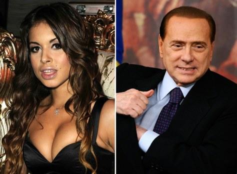 Image: Karima El Mahroug, Silvio Berlusconi