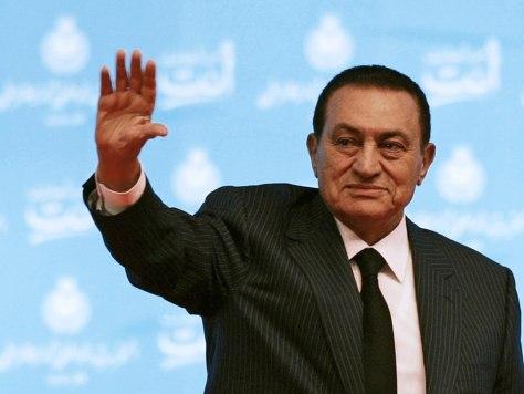 Image: Egypt's President Mubarak