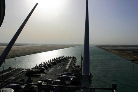 Image: View of Suez Canal from USS Enterprise