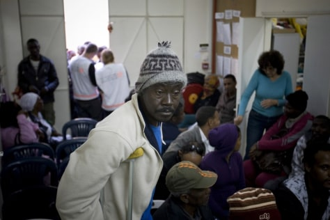 Image: African migrant workers in Israel
