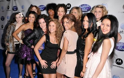 "Image: ""American Idol"" semifinalist women"