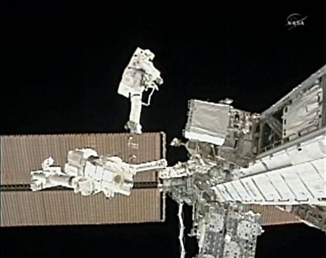 Image: Spacewalk in progress