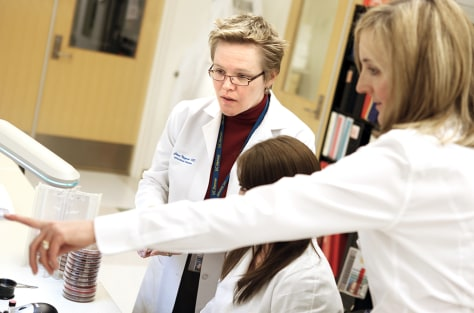 Image: Dr. Christine Nyquist, Medical Director of Infection Control, at the Children's Hospital in Aurora, Co.