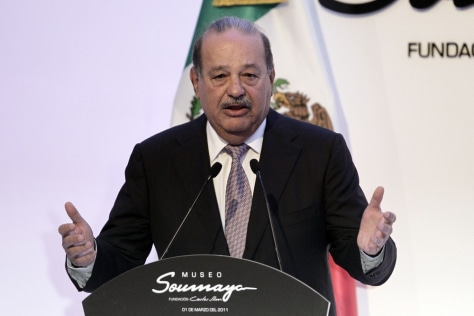 Image: Mexico's Carlos Slim Helu, added $20.5 billion to his fortune, more than any other billionaire.