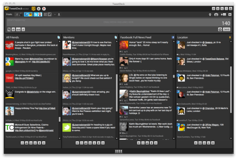 Image: TweetDeck screen