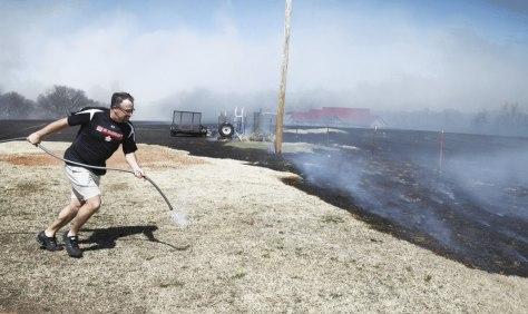 Image: Goldsby, Okla.,Grass fire