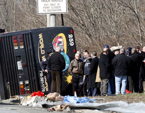 Image: bus crash scene