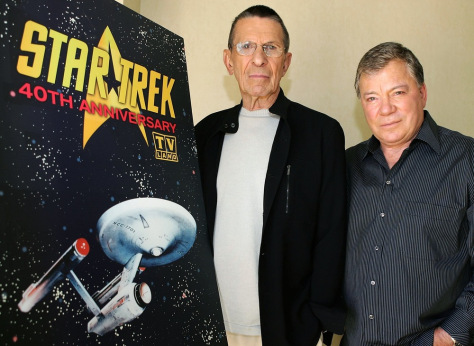 Image: Leonard Nimoy and William Shatner