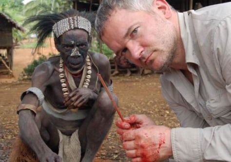 Former cannibal tribe lets him pull up a chair - Technology