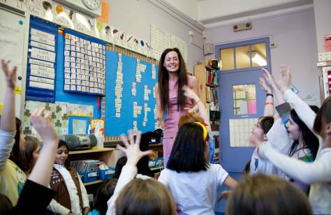 Image: Catherine Hooper in classroom