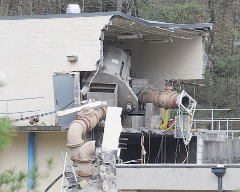 Image: Damaged sewage plant