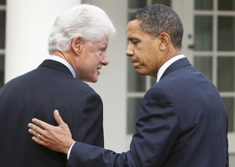 Image: Barack Obama, Bill Clinton,