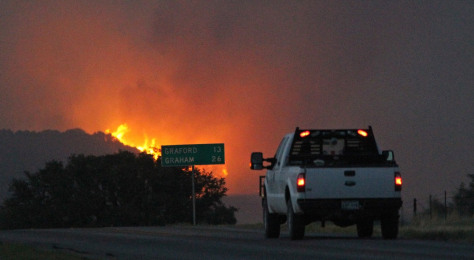 Image: Wildfire in Graham, Texas