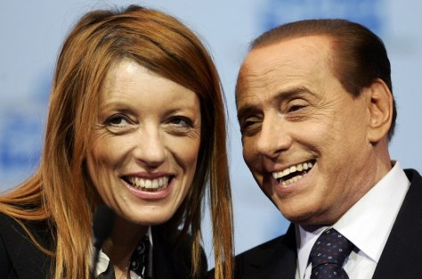 Image: Silvio Berlusconi, Maria Vittoria Brambilla